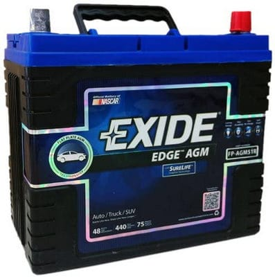 Exide Edge FP-AGM51R Flat Plate AGM Sealed Automotive Battery review