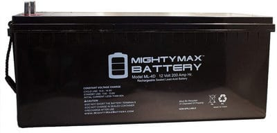 Mighty Max Battery ML4D - 12V 200AH Sealed Lead Acid Battery review