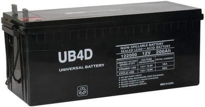 Universal Power Group 12V 200Ah 4D SLA AGM Battery Replacement for Solar Systems 8A4D / 8G4D / 8G8D Compatible review